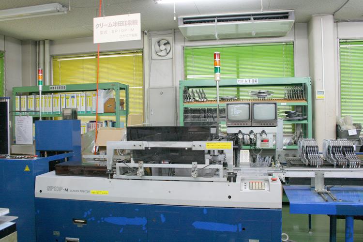 クリーム半田印刷機